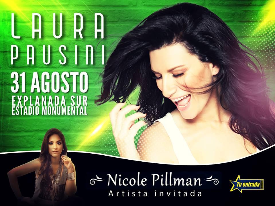 Nicole Pillman artista invitada – Laura Pausini en Lima